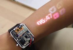 Bu akıllı saat, kolunuzu dokunmatik bir ekrana dönüştürüyor