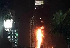 Dubaide 63 katlı gökdelende yangın çıktı