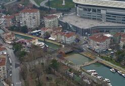 Kurbağalıdere Köprüsündeki yıkım havadan görüntülendi