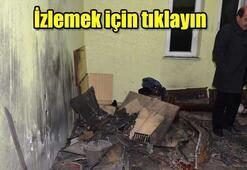 Bomba düzenekli odun sobada patladı: 7 Yaralı