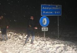 Kırklarelinin yüksek kesimlerinde yoğun kar yağışı başladı