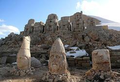 Nemrutun heykelleri yüzünü gösterdi