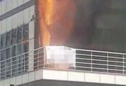 Son dakika | 5 katlı plazada yangın çıktı