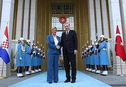 Cumhurbaşkanı Erdoğan, Hırvat Cumhurbaşkanı Kitaroviç'i ile görüştü