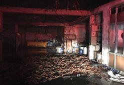 Denizlide üç imalathane ve bir depo yandı