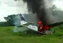 Yerden havadaki uçağı vurdular