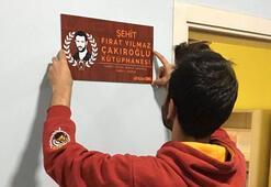 ultrAslan UNI, şehit Çakıroğlu adına kütüphane açtı
