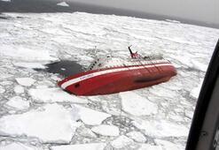 Antarktikada gemi battı