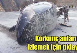 Artvinde helikopter yan yattı: 3 yaralı