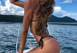 Izabel Goulartın tatil keyfi
