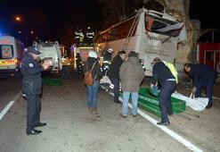 Son dakika... Eskişehirde yolcu otobüsü ağaçlara çarptı Onlarca ölü ve yaralı var...