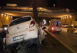 Bursada aşırı hız kazası : 2 yaralı