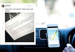 Sağır ve dilsiz Uber şoförünün notu sosyal medya büyük ilgi gördü