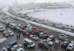 Erciyes hafta sonu 100 bin kişiyi ağırladı