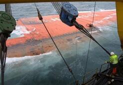 Devasa batık gemi, böyle kurtarıldı