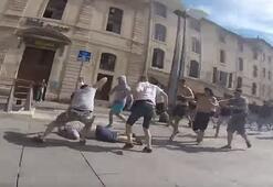 Holiganlar sokaklarda terör estirdi