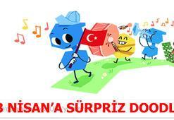 23 Nisan Ulusal Egemenlik ve Çocuk Bayramına sürpriz doodle
