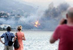 Sicilyada alevler evleri yutuyor