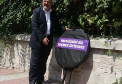 Ermeni Patrikhanesi önünde seçim protestosu
