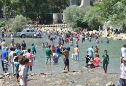 Tarsus'ta sıcaktan bunalanlar baraja koşuyor