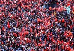 Taksim'deki Cumhuriyet ve Demokrasi mitingi