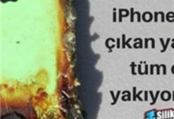 iPhone 'u alev aldı Sebebi ise…