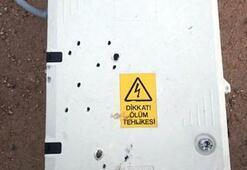 Elektrik panolarına silahla saldırıp tahrip ettiler