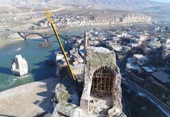 Hasankeyfte 900 yıllık Küçük Saray böyle örtülendi
