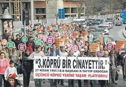 3. köprüye mumlu protesto