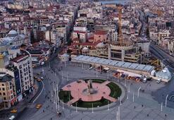 Taksim Camii kubbesine kavuşuyor