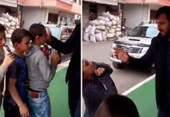 Skandal görüntü Marketin önünde çocukları sıraya koyup..
