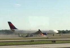 Son dakika... Yolcu uçağı alev aldı İşte şok anları...