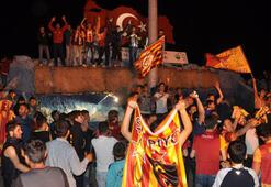 Galatasaraylı taraftarlar coştu