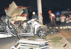 Motor uçuran kaza can aldı