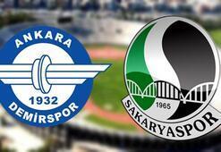 Ankara Demirspor Sakaryaspor maç sonucu: 2-0