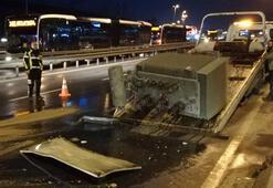 D-100deki kaza trafiği kilitledi