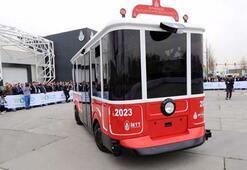 İstanbulun simgesi kırmızı tramvay elektriklendi
