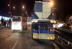 Otomobil bariyer yıkama aracına çarptı: 1 ölü 4 yaralı