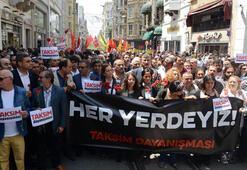 Gezi Parkı olaylarında ölenler İstiklal Caddesinde anıldı