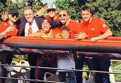 Galatasaray kafilesi Arenaya hareket etti