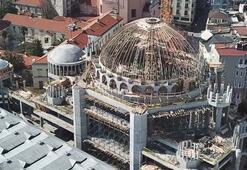 Taksim Camiinde kaba inşaatın yüzde 80i tamamlandı