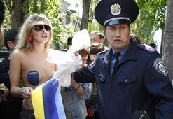 Rusyayı böyle protesto ettiler