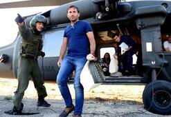 Torbalar helikopterle taşındı