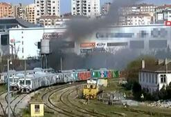 Son dakika Haydarpaşa Tren Garında yangın çıktı