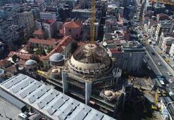 Taksim Camii inşaatındaki son durum havadan görüntülendi