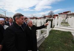 Başbakan Yıldırım, Aliya İzzetbegoviçin kabrini ziyaret etti