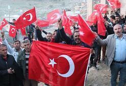 Siirtin Ekmekçiler köyü sakinleri terör örgütü PKKya karşı yürüdü