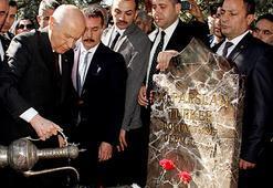 MHPnin Kurucu Genel Başkanı Alparslan Türkeş mezarı başında anıldı