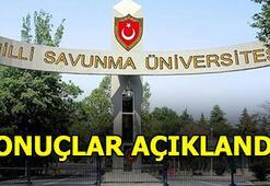 MSÜ sonuçları açıklandı Milli Savunma Üniversitesi sınav sonucu sorgula