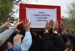 120 nüfuslu köyün şehidini 5 bin kişi uğurladı